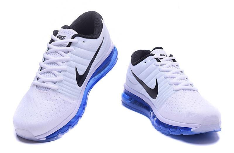 basket nike blanche et bleu
